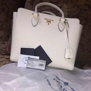 Prada borsa a mano purse in white